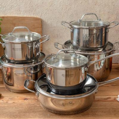 Cookware set with teflon frypan 12pcs EB-2117