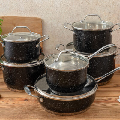 Cookware set with marble frypan 12pcs EB-4044