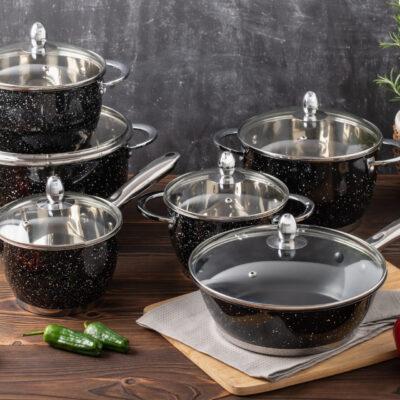 Cookware set with teflon frypan 12pcs EB-4051