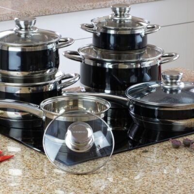 Cookware set with marble frypan 12pcs EB-9980