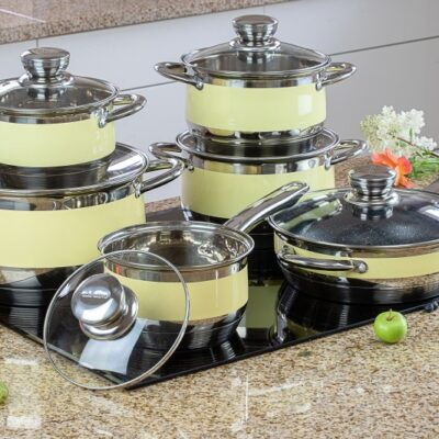 Cookware set with marble frypan 12pcs EB-9981