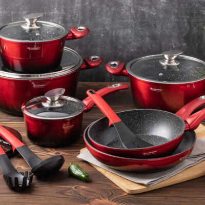Cookware set with kitchen tools 15pcs EB-5619