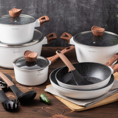 Cookware set with kitchen tools 15pcs EB-5622