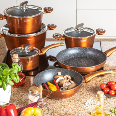 Cookware set with kitchen tools 15pcs EB-5618